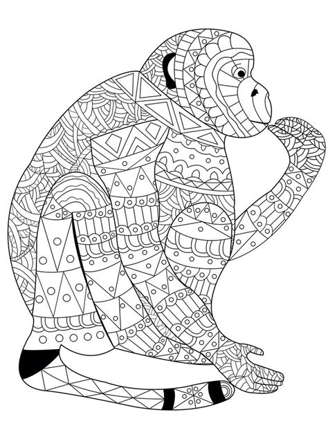 Coloring Book Monkey by 12 Coloring Pages To Destress On Election Anti
