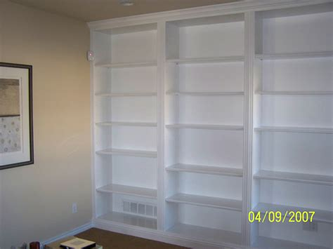 built in bookshelves casual cottage