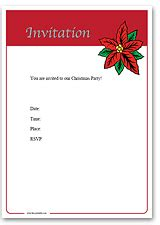 printable christmas invitations template best template collection