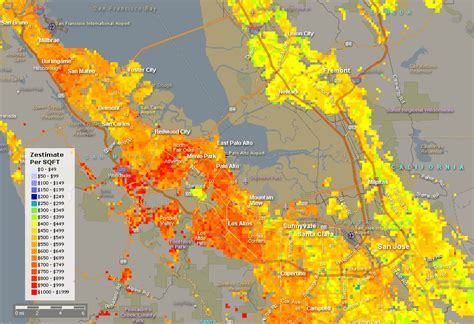 zillow zestimate map burning city heat maps silicon valley burbed