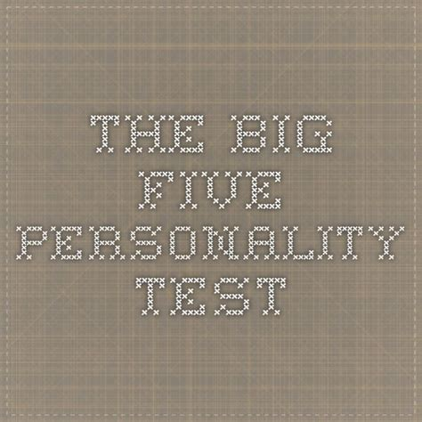 the best personality test 25 best ideas about big five personality test on