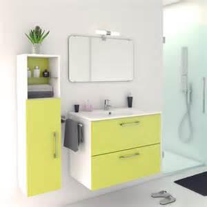 meuble de salle de bains happy vert botanique 81x46 cm 2