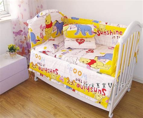 Nursery Cot Bedding Sets Promotion 7pcs 100 Cotton Baby Quilt Nursery Comfy Cot Crib Bedding Set Bumper For And Jpg