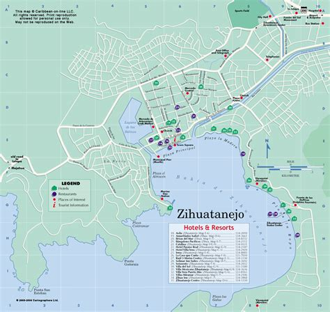 map of mexico showing ixtapa zihuatanejo mexico map