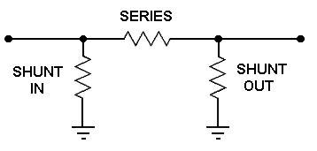 series resistor impedance matching matching pi attenuator calculator