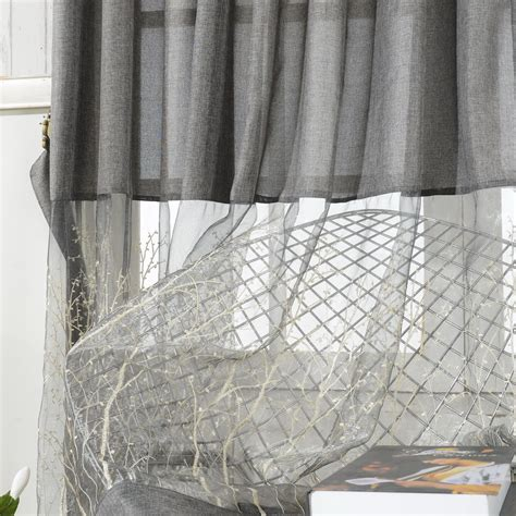 Gray Lace Valance Grey Lace Curtains Embroidery Patterns Curtains