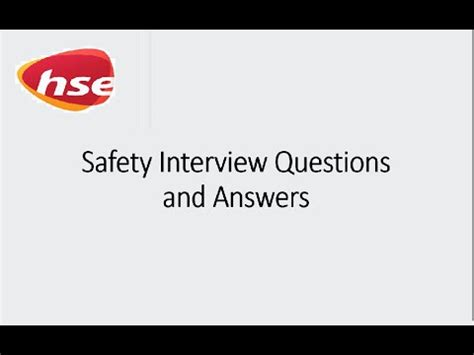 safety officer frequently asked questions