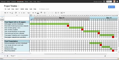 4 Project Timeline Excel Templates Excel Xlts Project Timeline Template