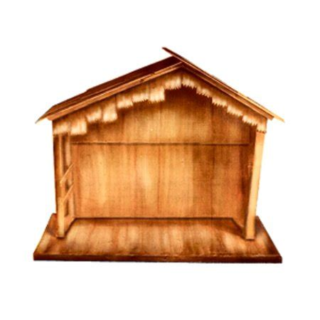 christmas stable walmart 74 quot large wooden outdoor religious nativity stable yard decoration walmart