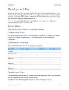 business plan templates for mac business development plan template business for business