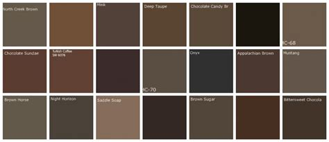 colors of brown brown paint colors designers favorite brands colo