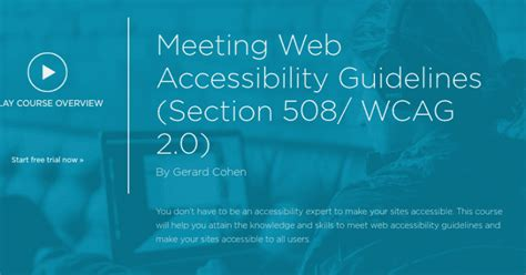 section 508 web accessibility standards programming unfettered thoughts