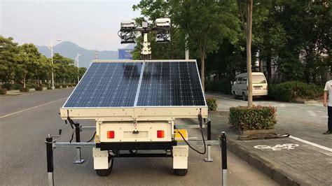 Solar Light Towers Green Power Trailer Type Mobile Solar Led Tower Light