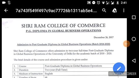 Srcc Mba 2018 by Srcc Gbo 2018 Notification For Pgdgbo Programme Mba