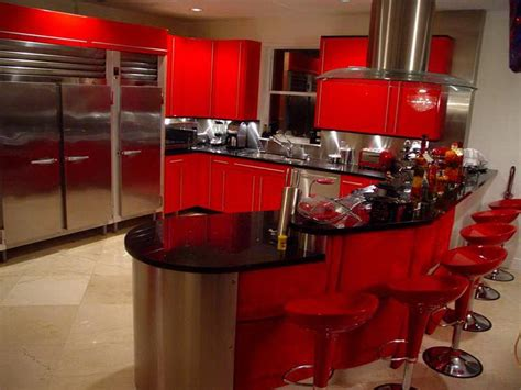 red kitchen decor ideas kitchen retro cherry red kitchen decorating ideas