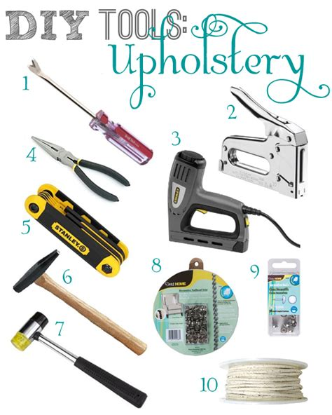 Tools For Upholstery Work by Diy Tools Upholstery