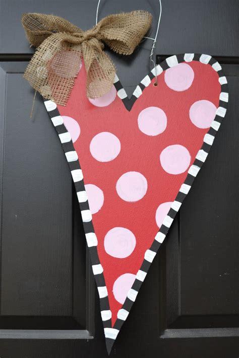 valentines door hanger wooden door hanger 40 00 via etsy craft ideas
