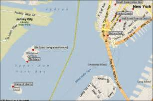 New York Harbor Map by Harbor Islands New York City Attractions Map Find The