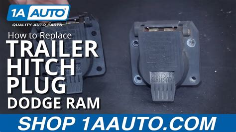 install replace trailer hitch plug receptacle   dodge ram buy auto parts  aauto