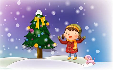 christmas wallpaper cartoons animation children images pictures for
