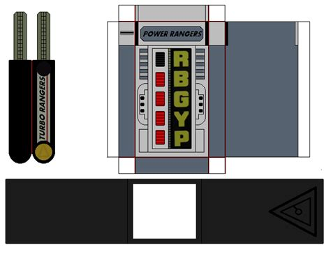 Papercraft Power Rangers - paper power rangers turbo morpher by mmpr97 on deviantart