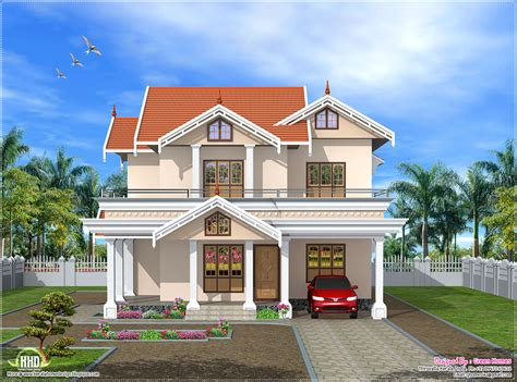 Decor: Front Elevation Design And Garage With Front Porch