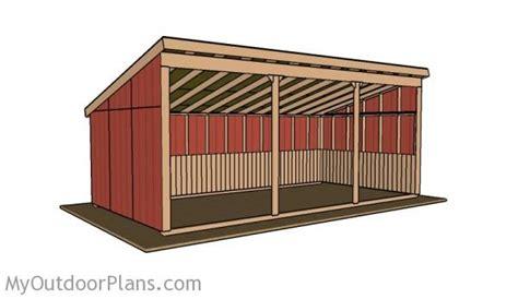 loafing shed roof plans myoutdoorplans
