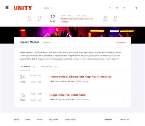 unity template unity event conference html template by