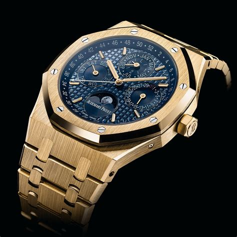 Motorrad Pronunciation by Audemars Piguet Royal Oak Perpetual Calendar In Yellow