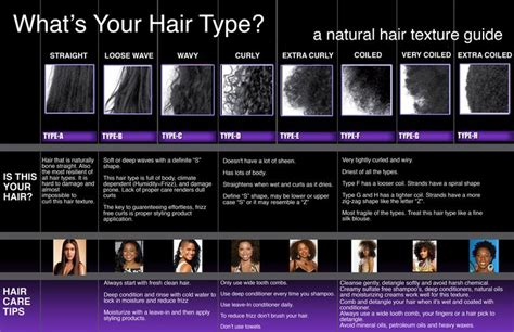 American Hair Type by American Hair Texture Chart Hair Can Be