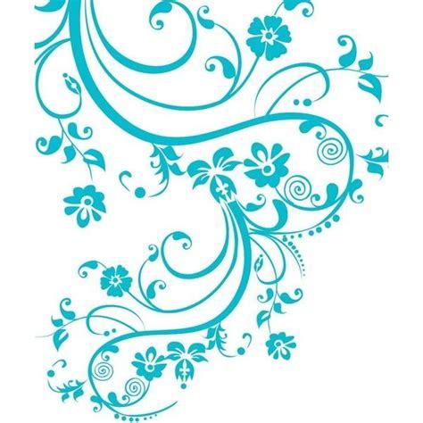 stickerbrand vinyl wall decal sticker swirl flower