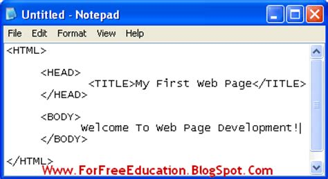 Tutorial Web Page Development | create your first web page in html perfect computer notes