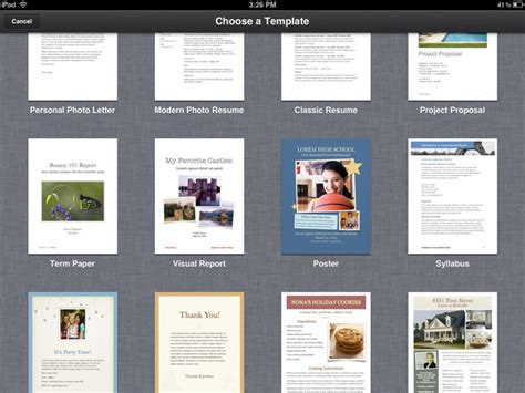 templates for pages ipad pages for iphone and ipad review imore