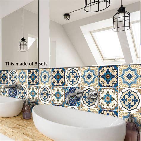 azulejos adhesivos cocina bano mosaico estilo marroqui  en mercado libre