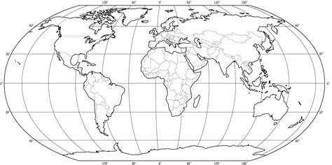 world map printable outline