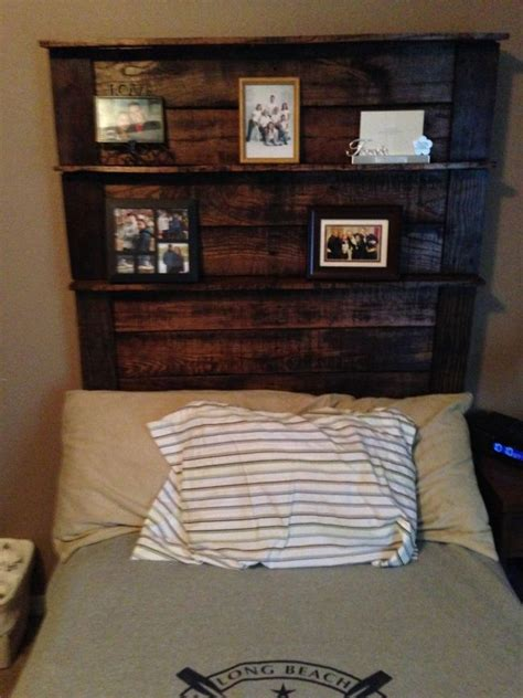 diy headboards with shelves my diy pallet headboard projects pinterest shelves