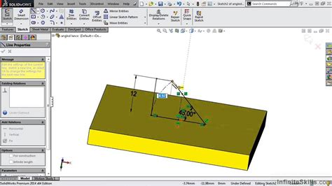 solidworks tutorial forming tool solidworks sheet metal tutorial modifying existing