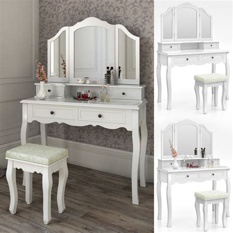 Makeup Vanity Dressing Table Dressing Table Stool Makeup Table Storage Mirror Bedroom