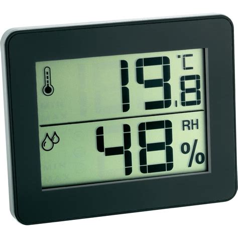 Thermometer Hygrometer Digital thermo hygrometer tfa 30 5027 01 black from conrad