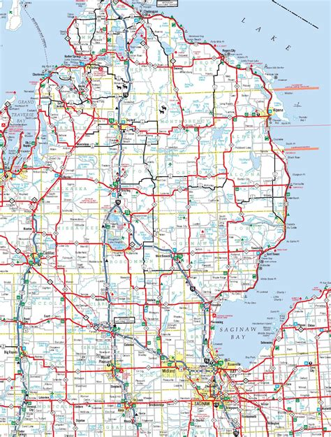 printable road maps of michigan michigan map images