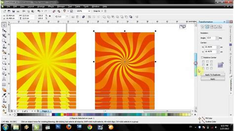 Cara Membuat Background Watermark Di Coreldraw | video tutorial corel x4 membuat background art matahari