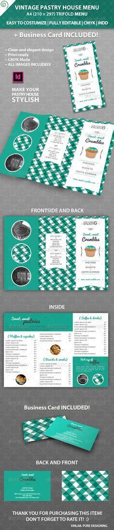 vintage menu card template dental clinic tri fold brochure tri fold brochure and