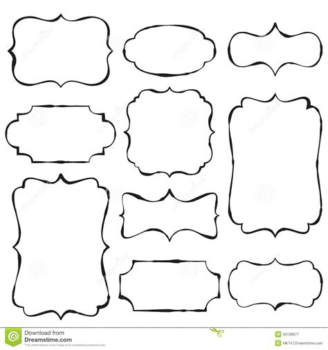 free doodle vector frame vintage doodle frames stock vector illustration of black