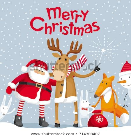vector christmas greeting card santa claus stock vector  shutterstock