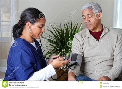home health care stock image image  nurse helping