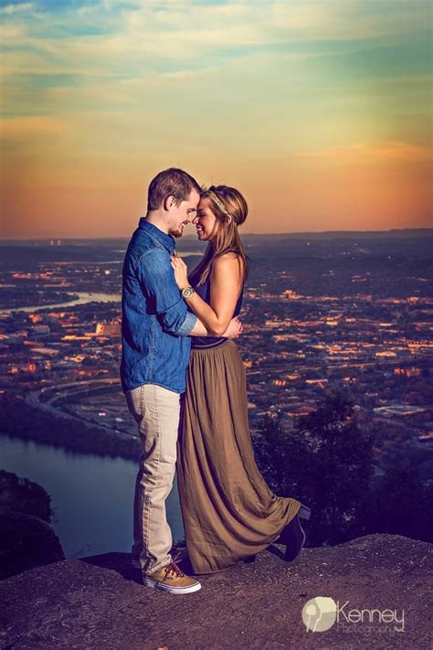 Point Park Engagement Session overlooking the city