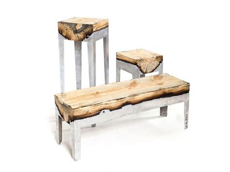 Metal Wood Furniture by Designers Block Wood And Metal Fused