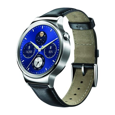 Huawei W1 huawei w1 classic smartwatch with black leather for
