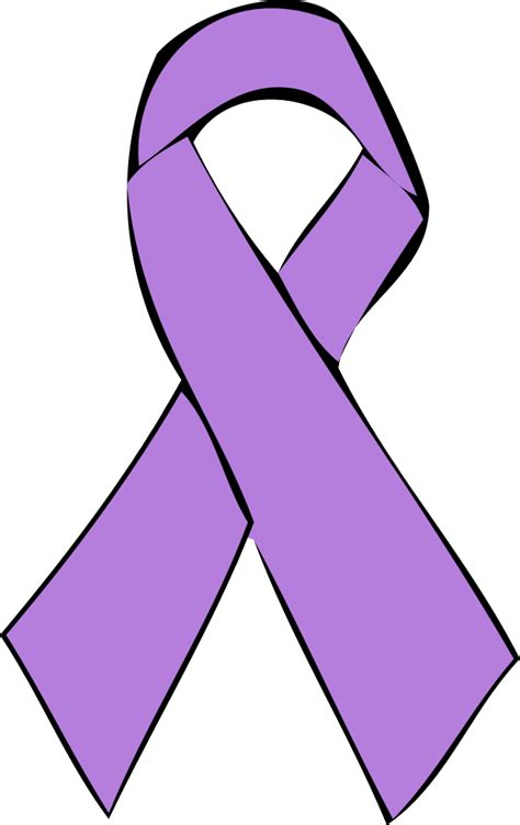 cancer ribbon outline clipart best