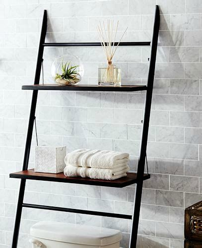 over the toilet ladder small bathroom storage solutions